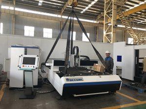 China fabriek badge snijmachine + verwisselbare fiber lasersnijder