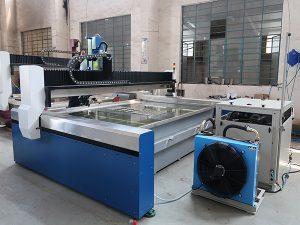 kleine hogedruk cnc waterstraalsnijmachine voor marmer, graniet, glas, keramiek, metaal
